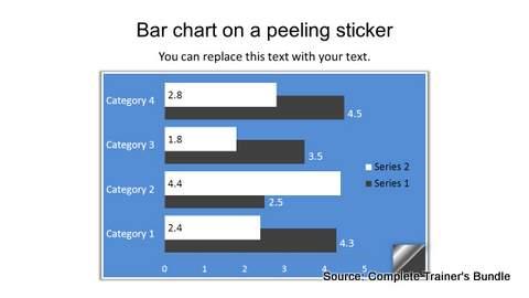 PowerPoint Bar Chart Infographic