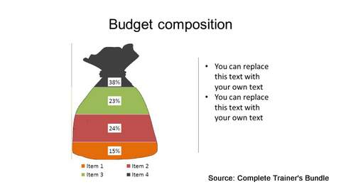 PowerPoint Data Chart Budget Infographic