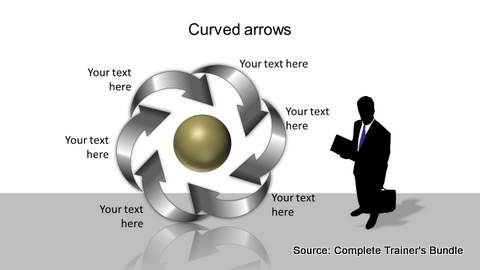 PowerPoint Curved Arrow Circular Flow