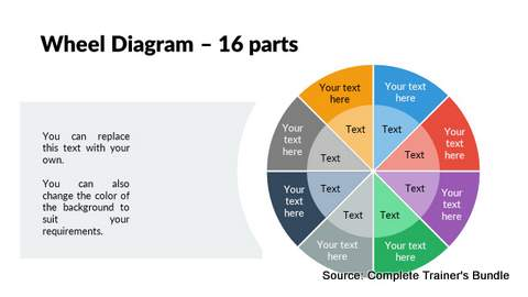 PowerPoint 16 Part Wheel Diagram