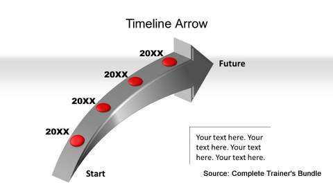 3D Curved Arrow Timeline