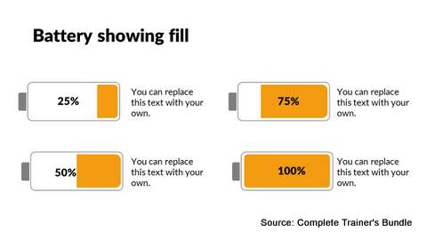 PowerPoint Battery Infographic
