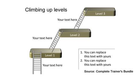 PowerPoint Levels Ladder Multiple