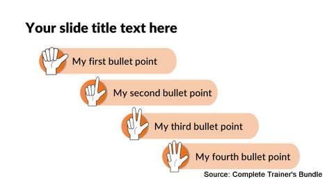 PowerPoint List with Icons