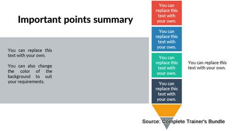 PowerPoint Summary Slide