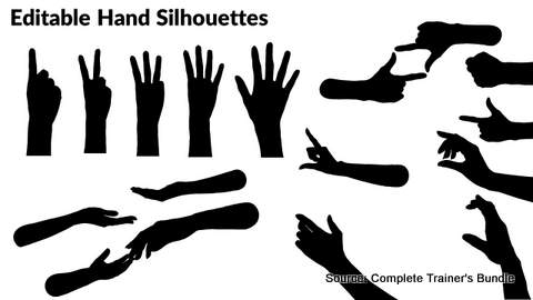 PowerPoint Assets Hand Silhouettes