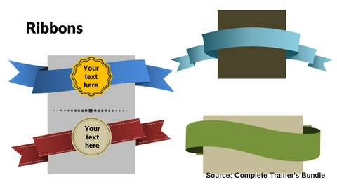 PowerPoint Assets Ribbons