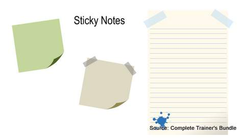 PowerPoint Assets Sticky Notes