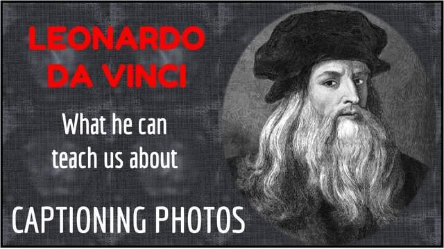 PowerPoint Photo Captioning Lesson From Leonardo Da Vinci