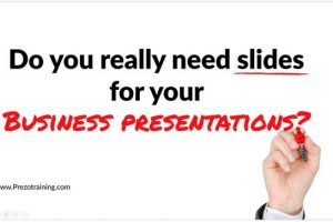 Do you really need slides for your Business Presentations?