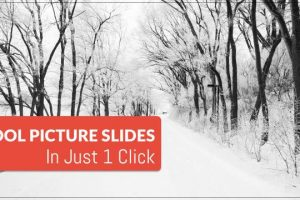 Create Cool Picture Slides in Just 1 Click