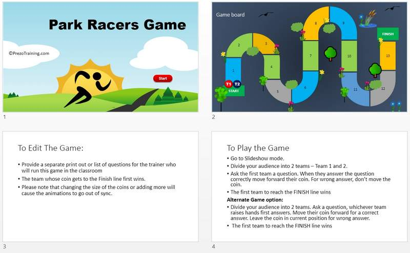 Park Racers PowerPoint Game