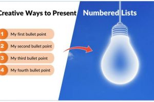 5 Creative Ideas to Present Numbered Lists