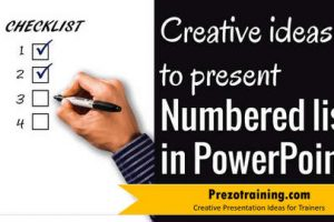 Creative Ideas To Present Numbered List in PowerPoint