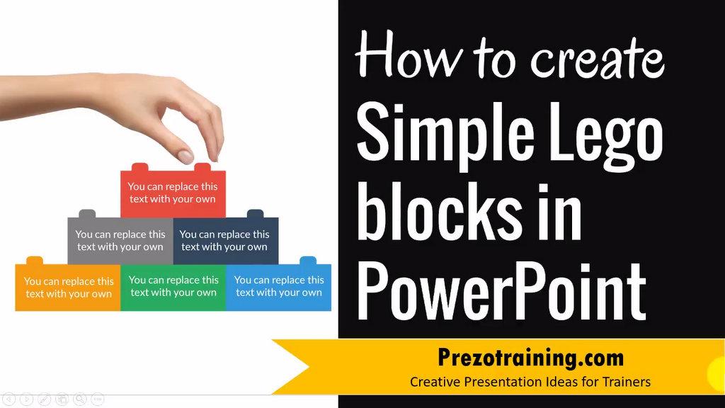 powerpoint lego blocks prezotraining. Black Bedroom Furniture Sets. Home Design Ideas
