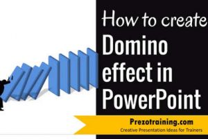 PowerPoint Graphic Design Ideas 3 – Domino Effect