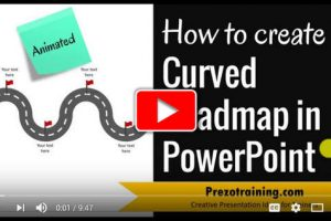How to Create Curved Roadmap in PowerPoint