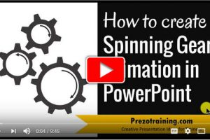 Create Spinning SmartArt Gears With Animation In PowerPoint