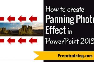 How to  Create Panning Photo Effect in PowerPoint 2013