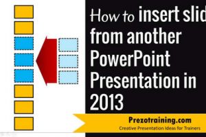 How to insert slides from another presentation in PowerPoint