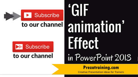 GIF Animation effect in PowerPoint