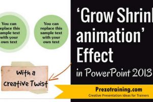 Grow Shrink Animation Effect in PowerPoint