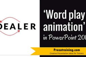 Word Play Animation in PowerPoint